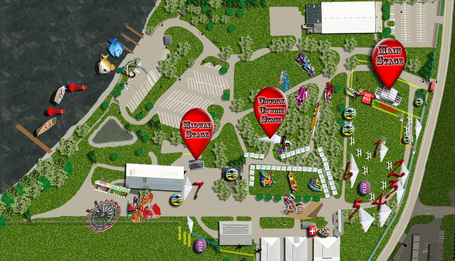 Celebrate De Pere Stage Map