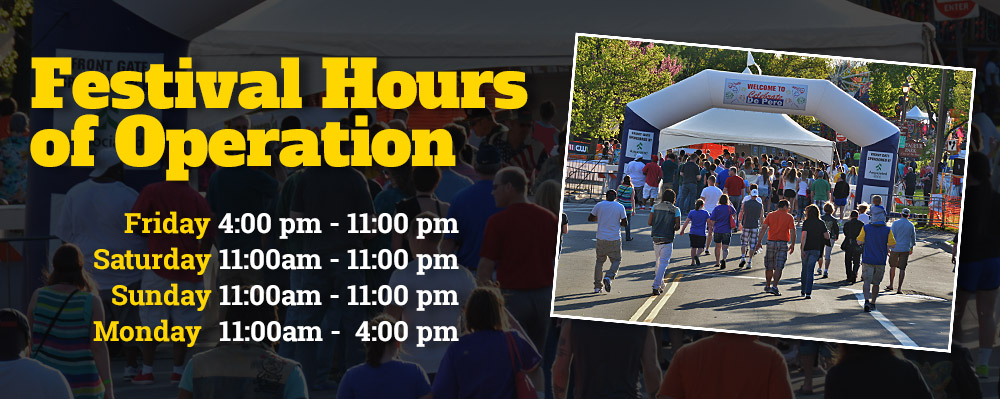 Festival Hours of Operation